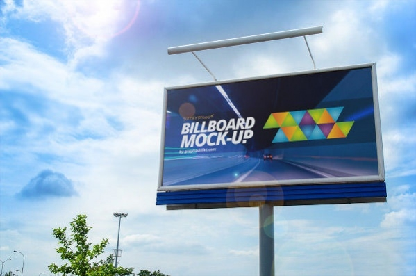 Free PSD Photorealistic Outdoor Billboard Mockup