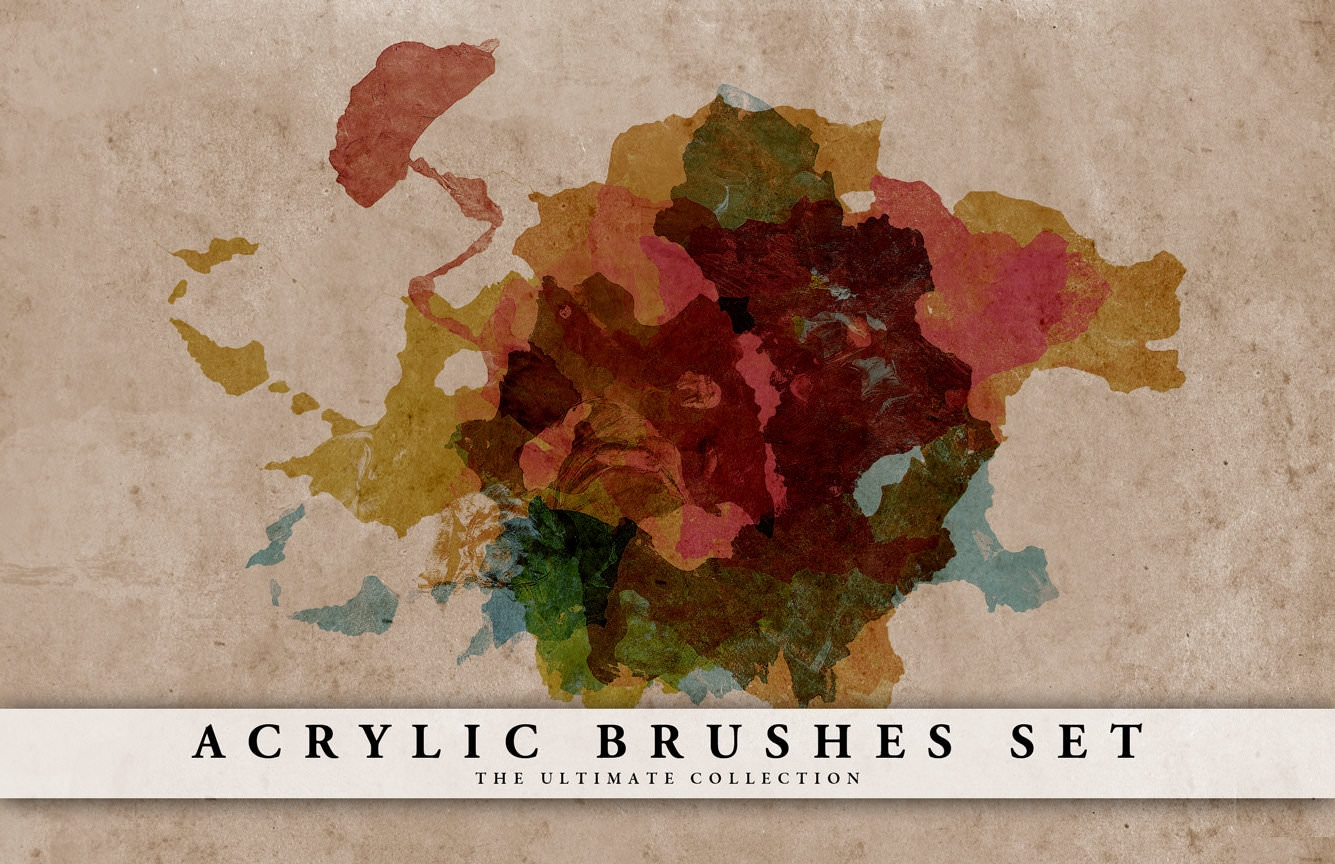 Free Photoshop Acrylic Brushes Set