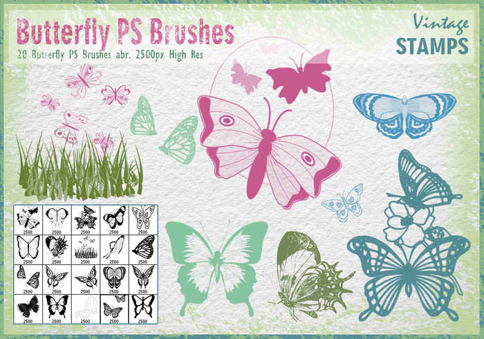 Free Photoshop Butterfly Brushes