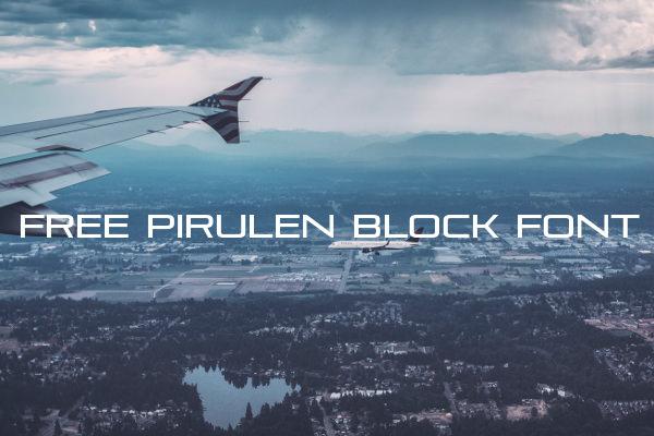 Free Pirulen Block Font
