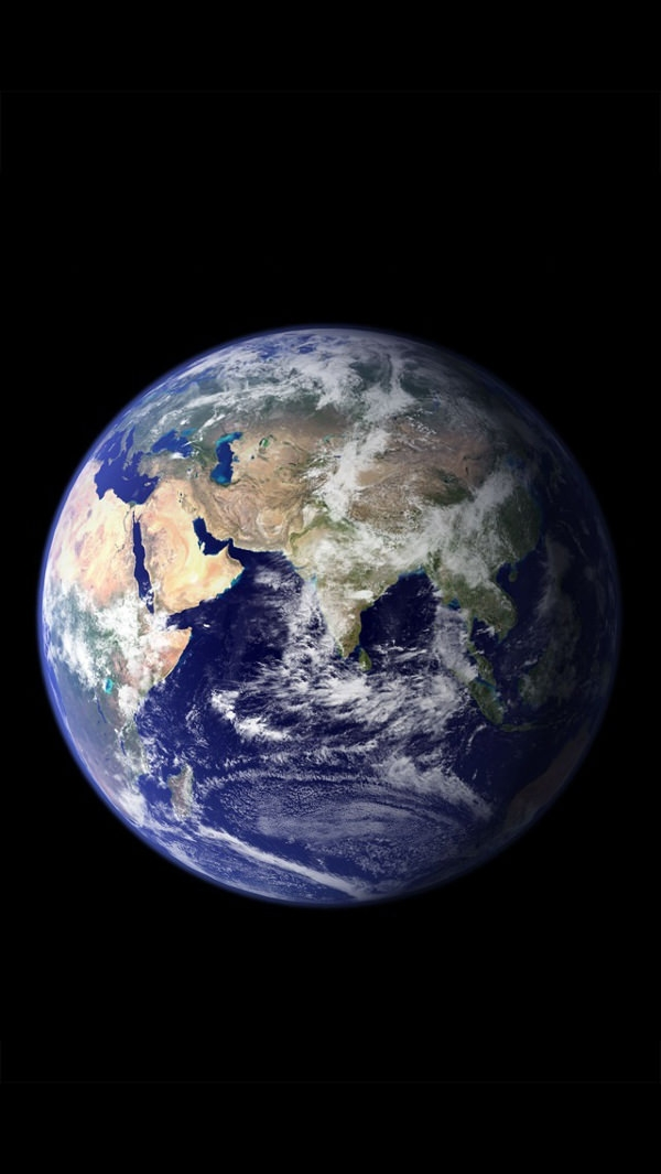 Free Space View of Earth iPhone 5c Background
