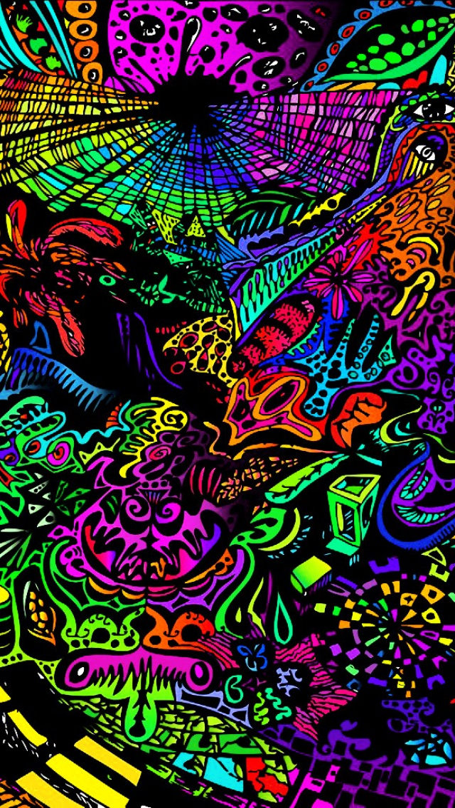 free trippy iphone background for you