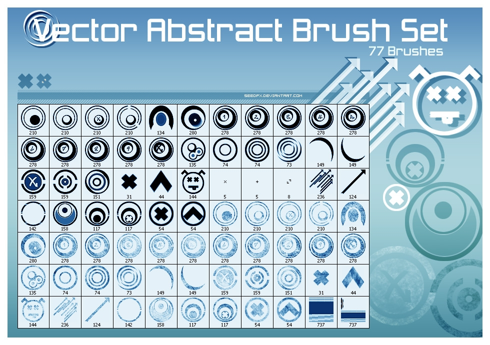 Free Vector Abstract Brushes Set