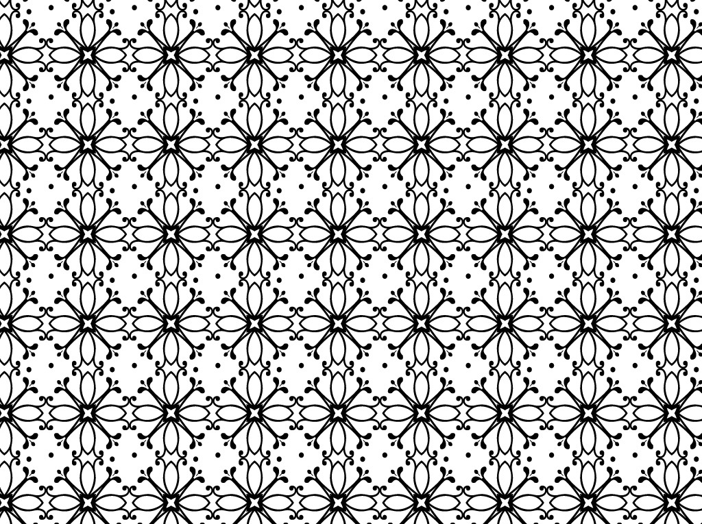 Free Vector Black and White Floral Patterns