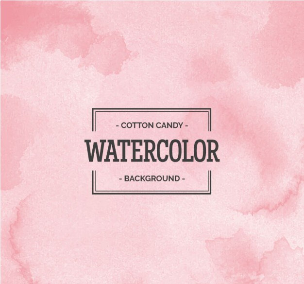 Free Vector Cotton Candy Watercolor Background