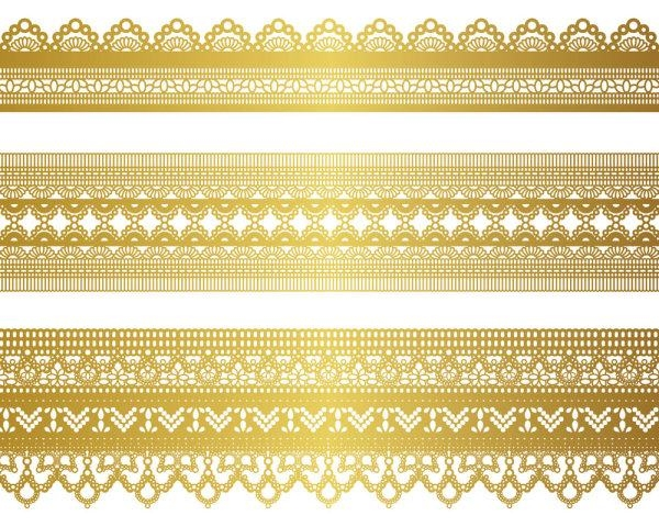 Free Vector Gold Lace Patterns