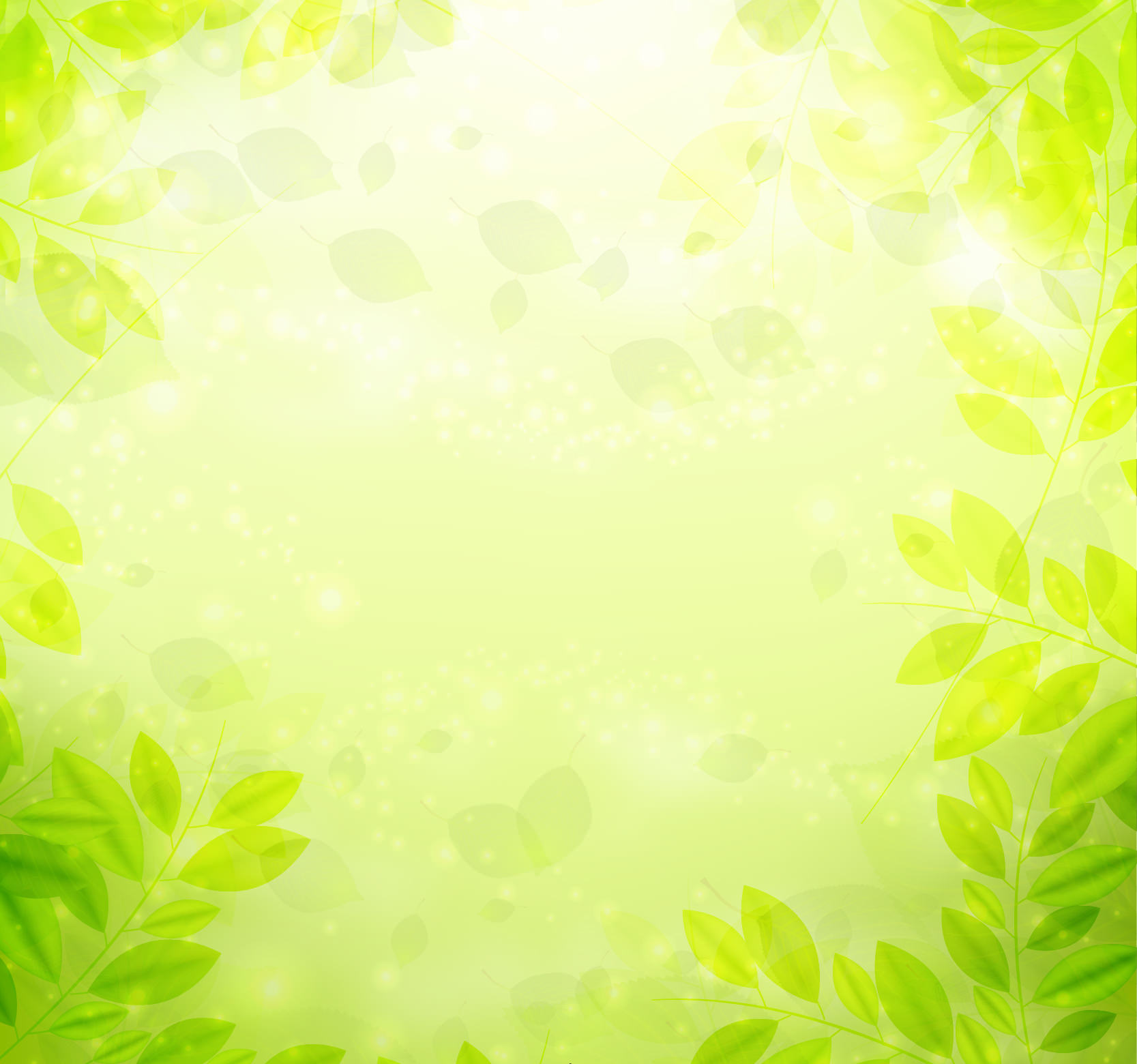 Free Vector Green Leaves Background