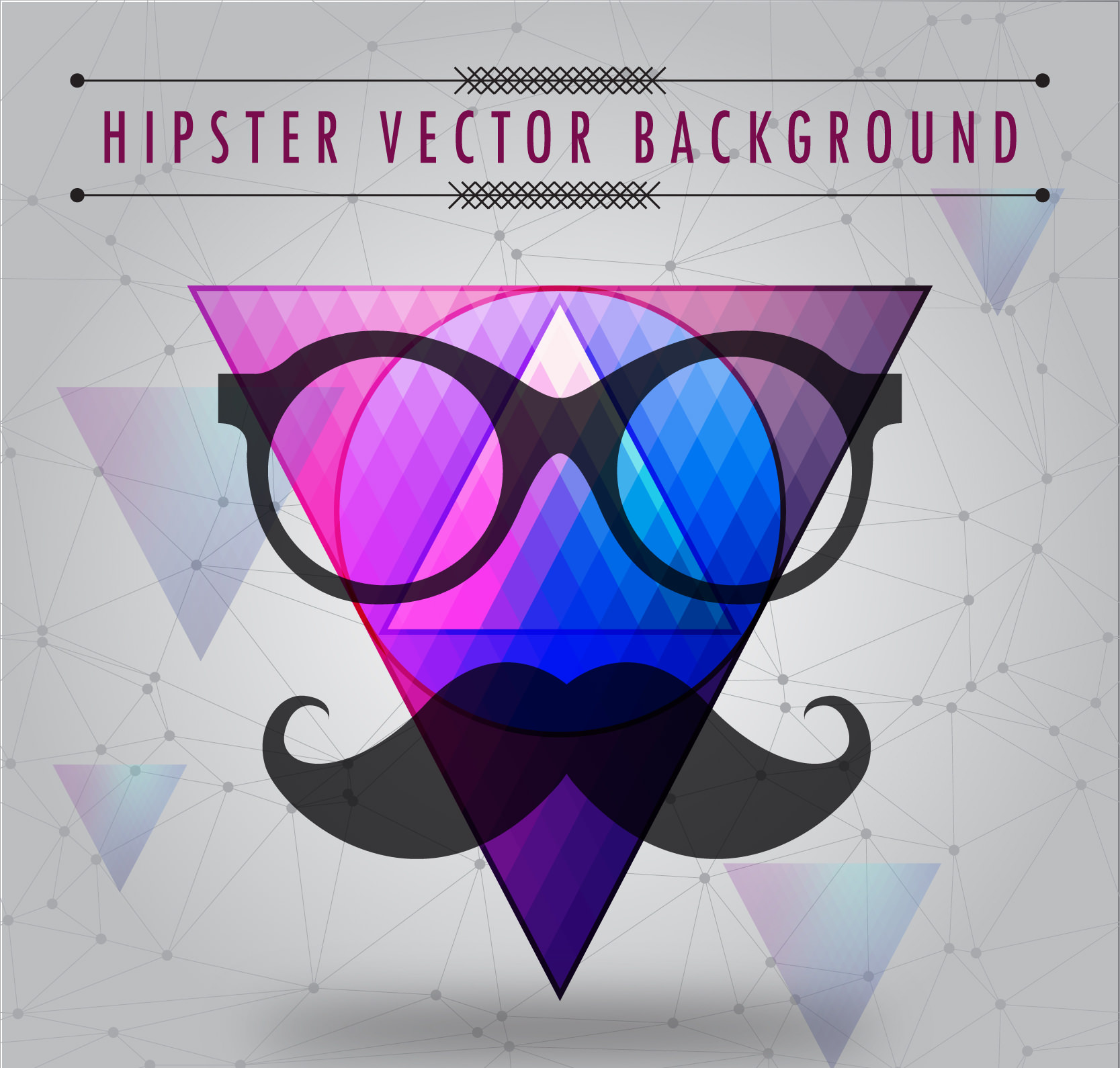 free vector illustration hipster background