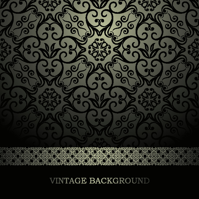 Free Vector Retro Floral Swirl Background