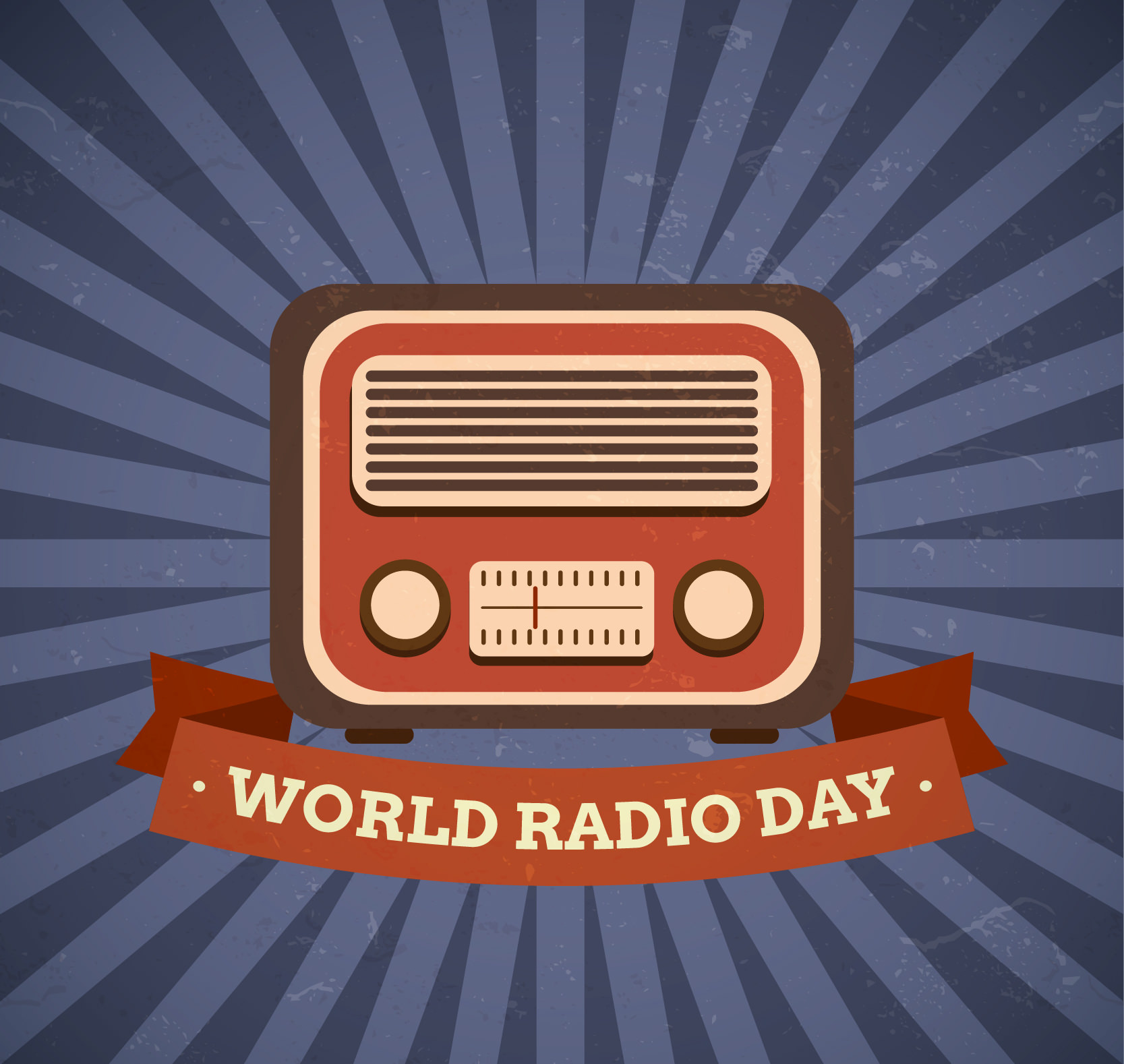 Free Vector World Radio Day Background