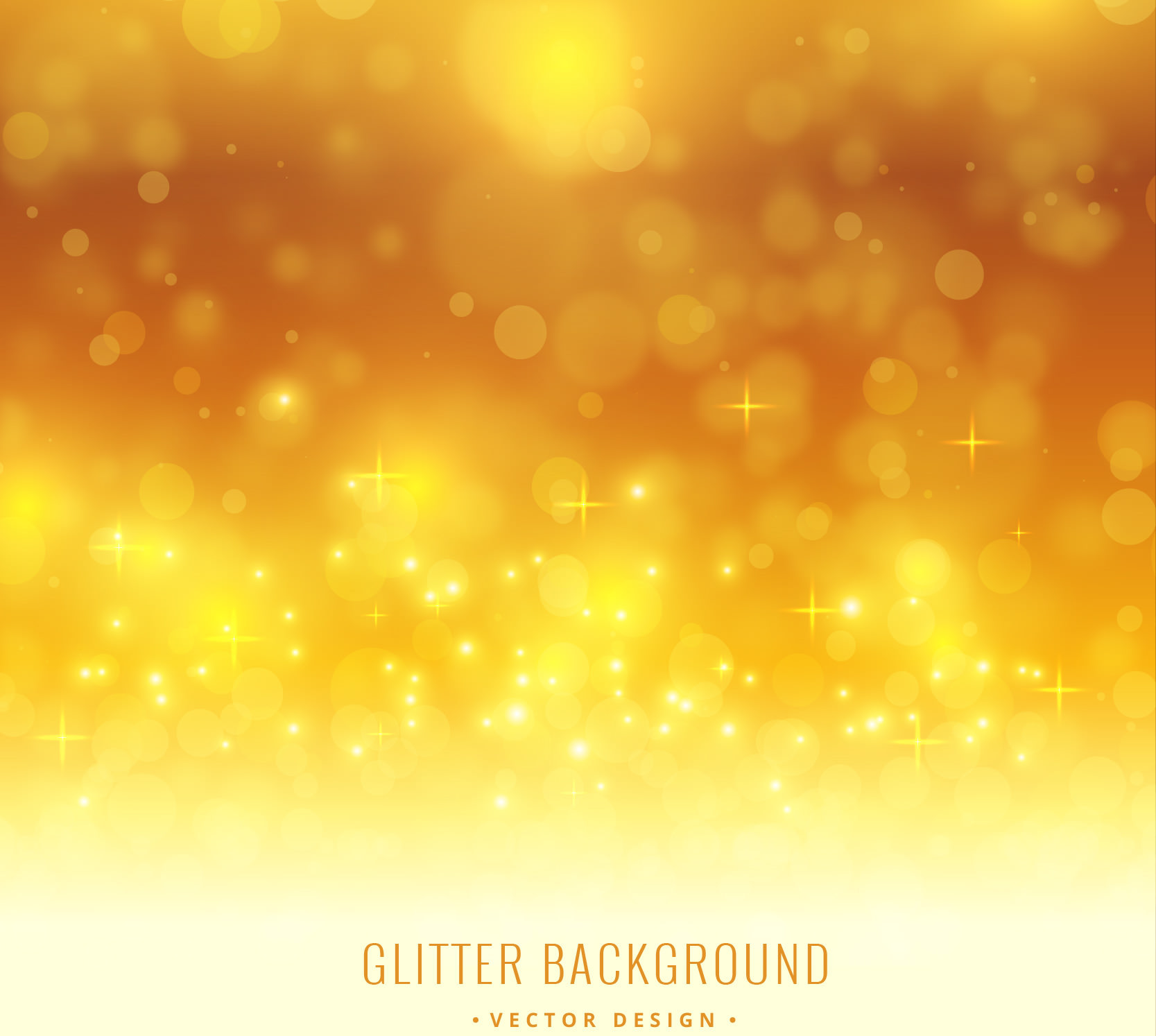 Free Vector Yellow Glitter Background