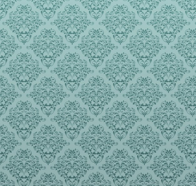 Free Vintage Seamless Blue Floral Pattern