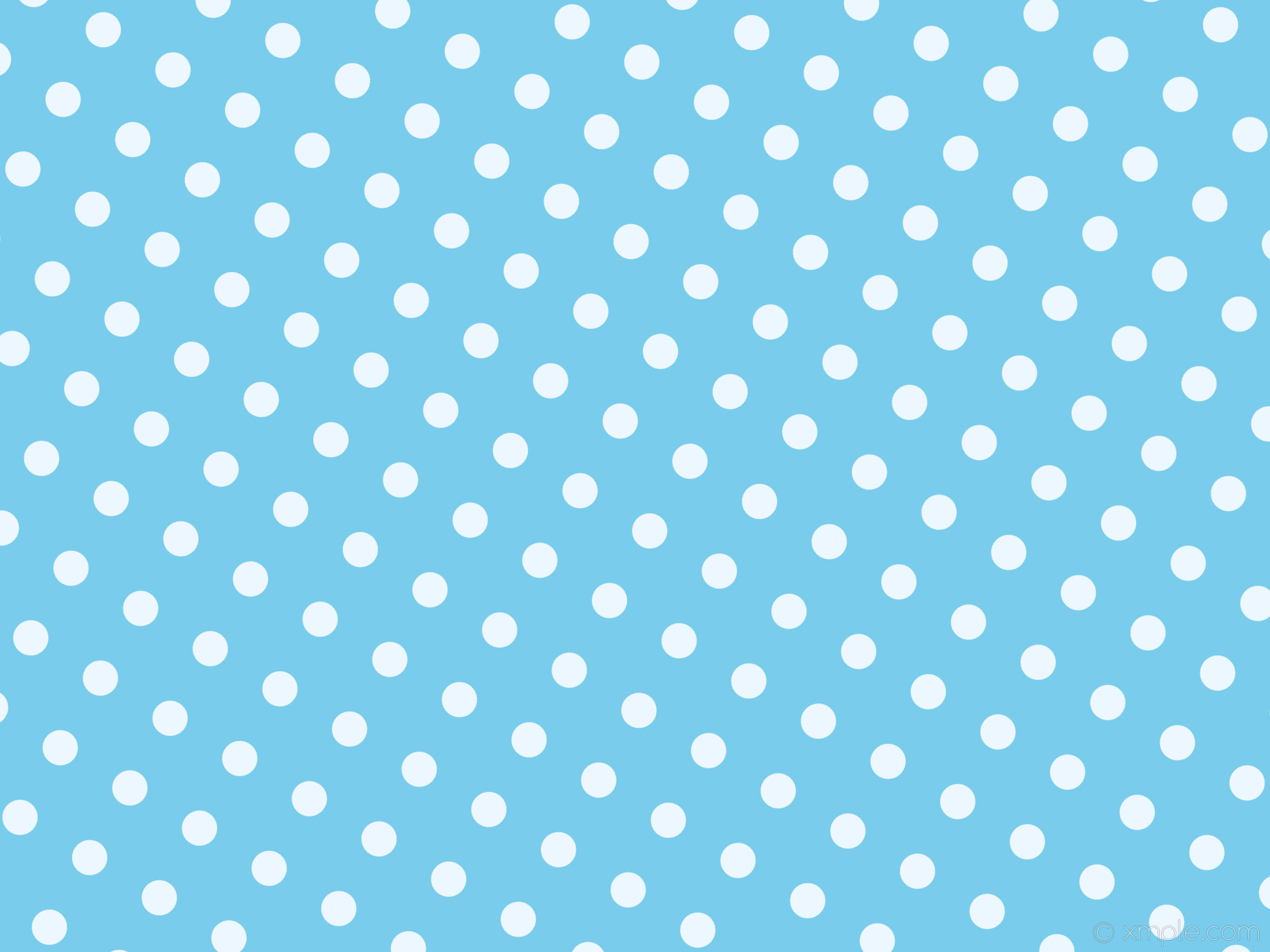 Free White & Blue Polka Dots Background