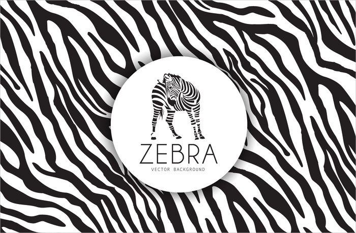 Free Zebra Pattern Vector Download