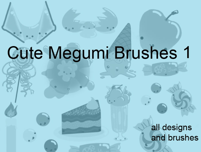 Free cute Megumi Brushes