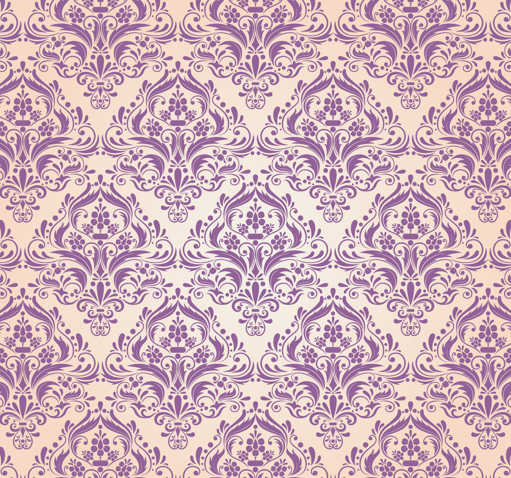 Free vector Floral Damask Pattern