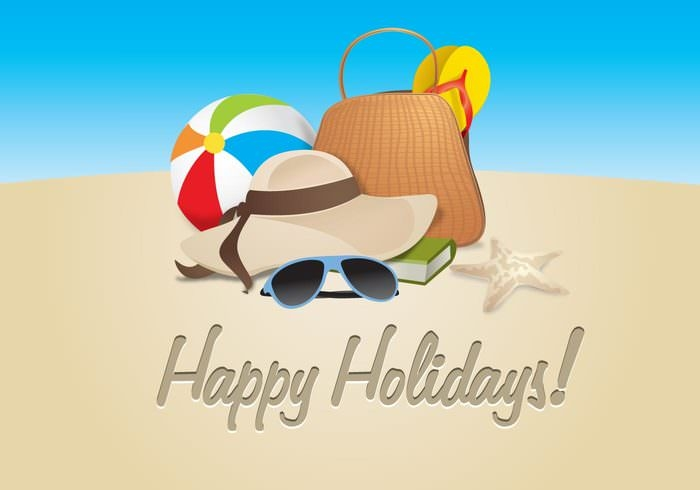 Free-vector-Happy-Holiday-Background