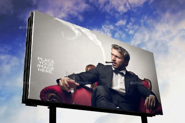 Fully Editable Outdoor Billboard Mockup