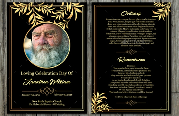 21  best funeral card designs  u0026 creatives