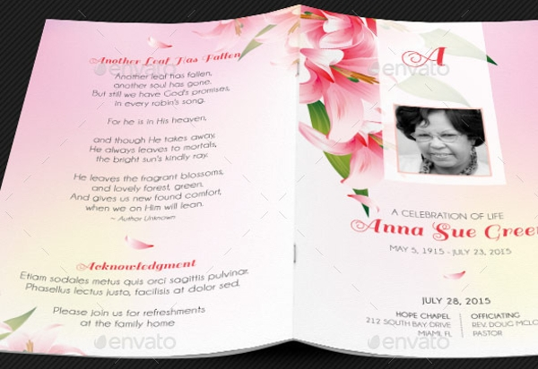 Funeral Program Bifold Card