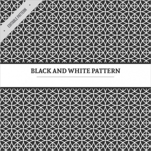 Geometric Black & White Pattern Free Vector