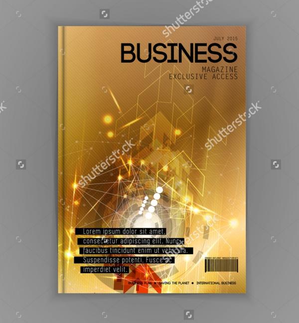 Glitter Financial Magazine Design