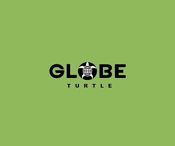 Globe Turtle Logo Design For Free