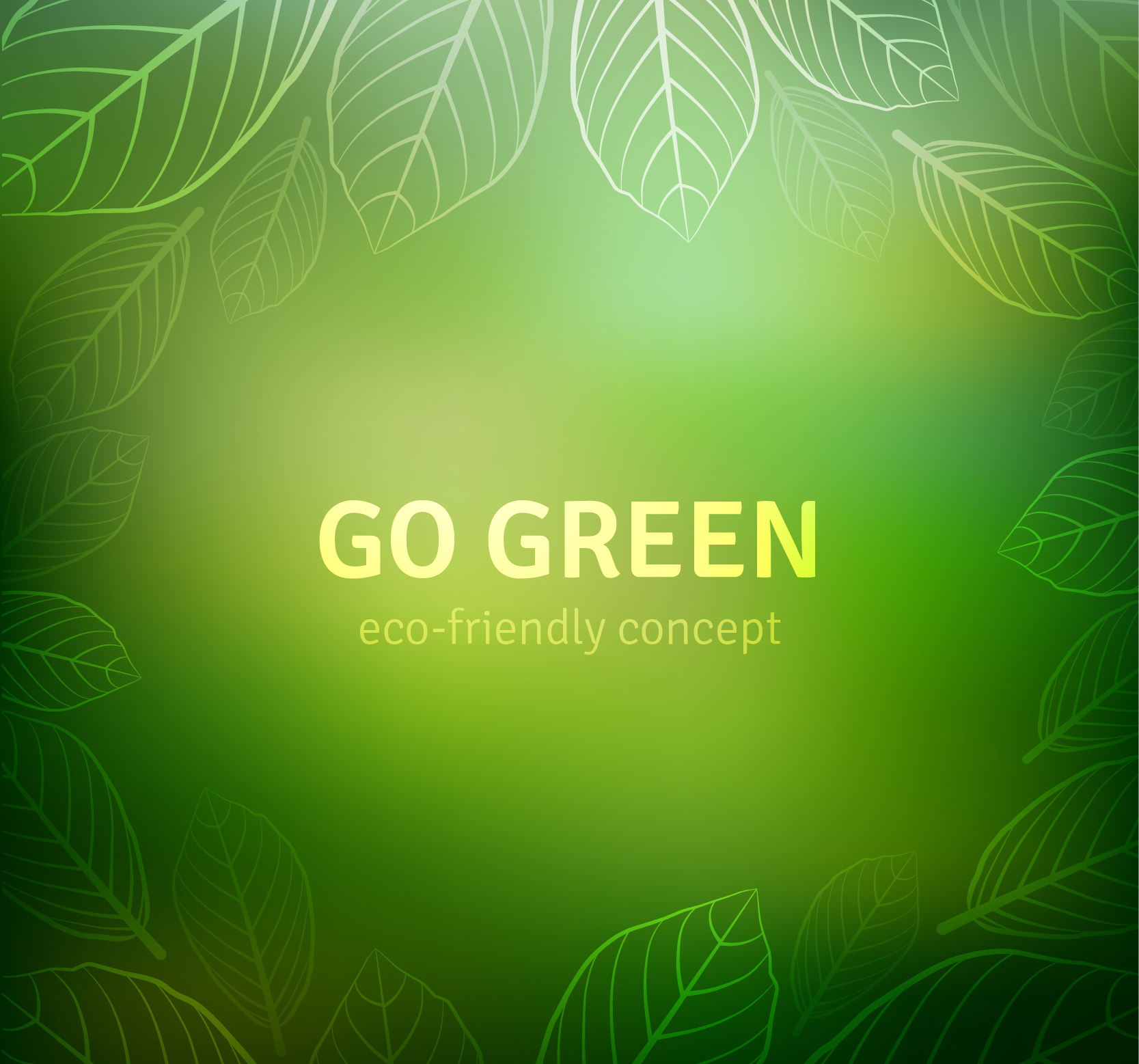 Go Green Free Vector Background