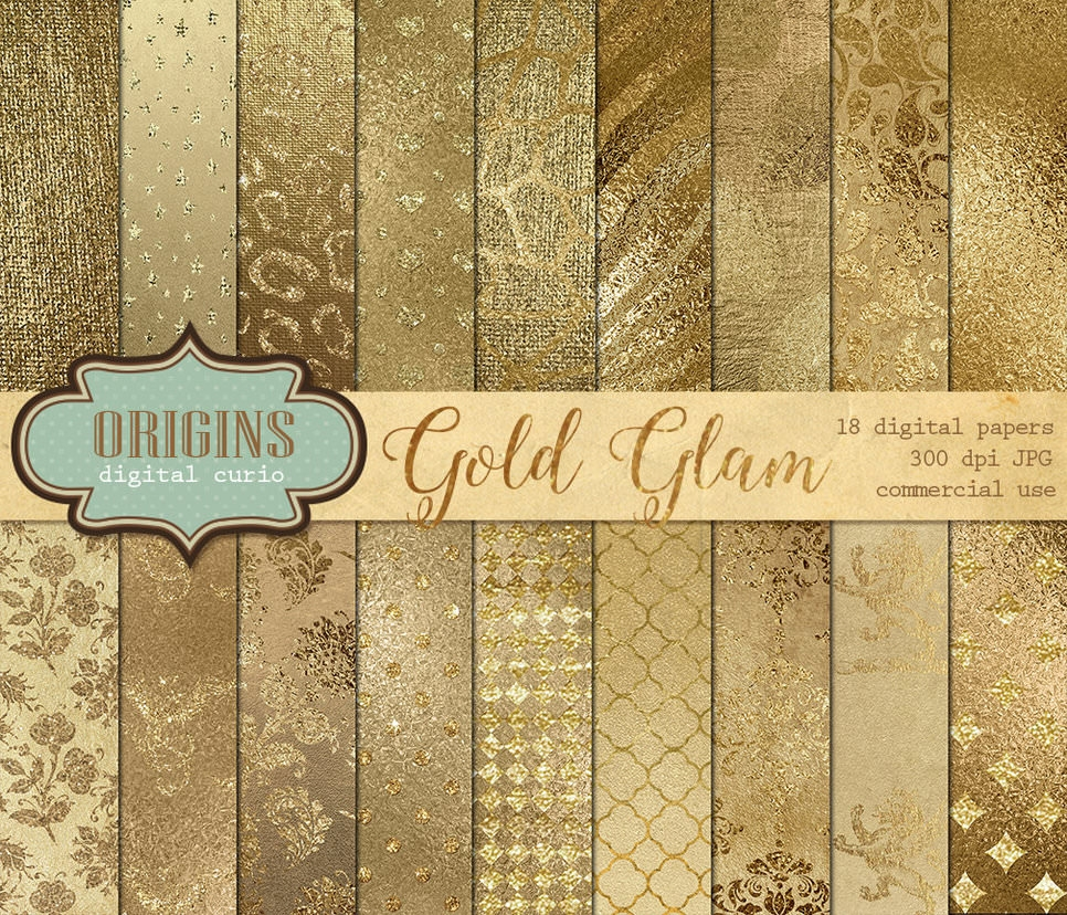 Gold Glam Photoshop Patterns