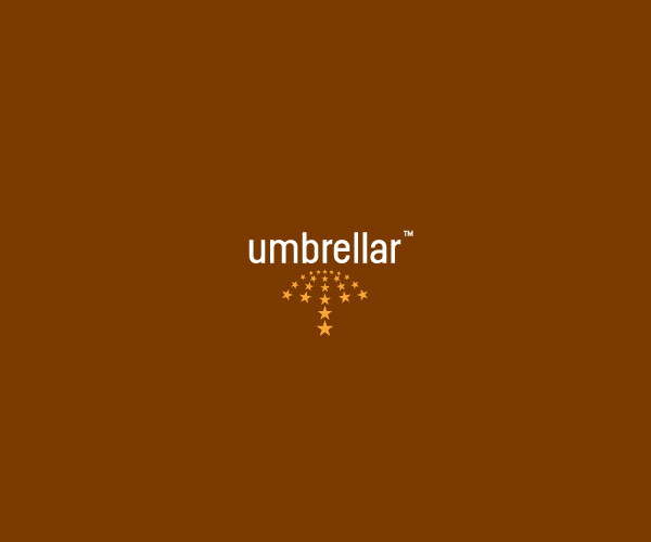 Gold Umbrella Logo Design For Free