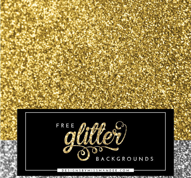 Gold and Silver Glitter Backgrounds
