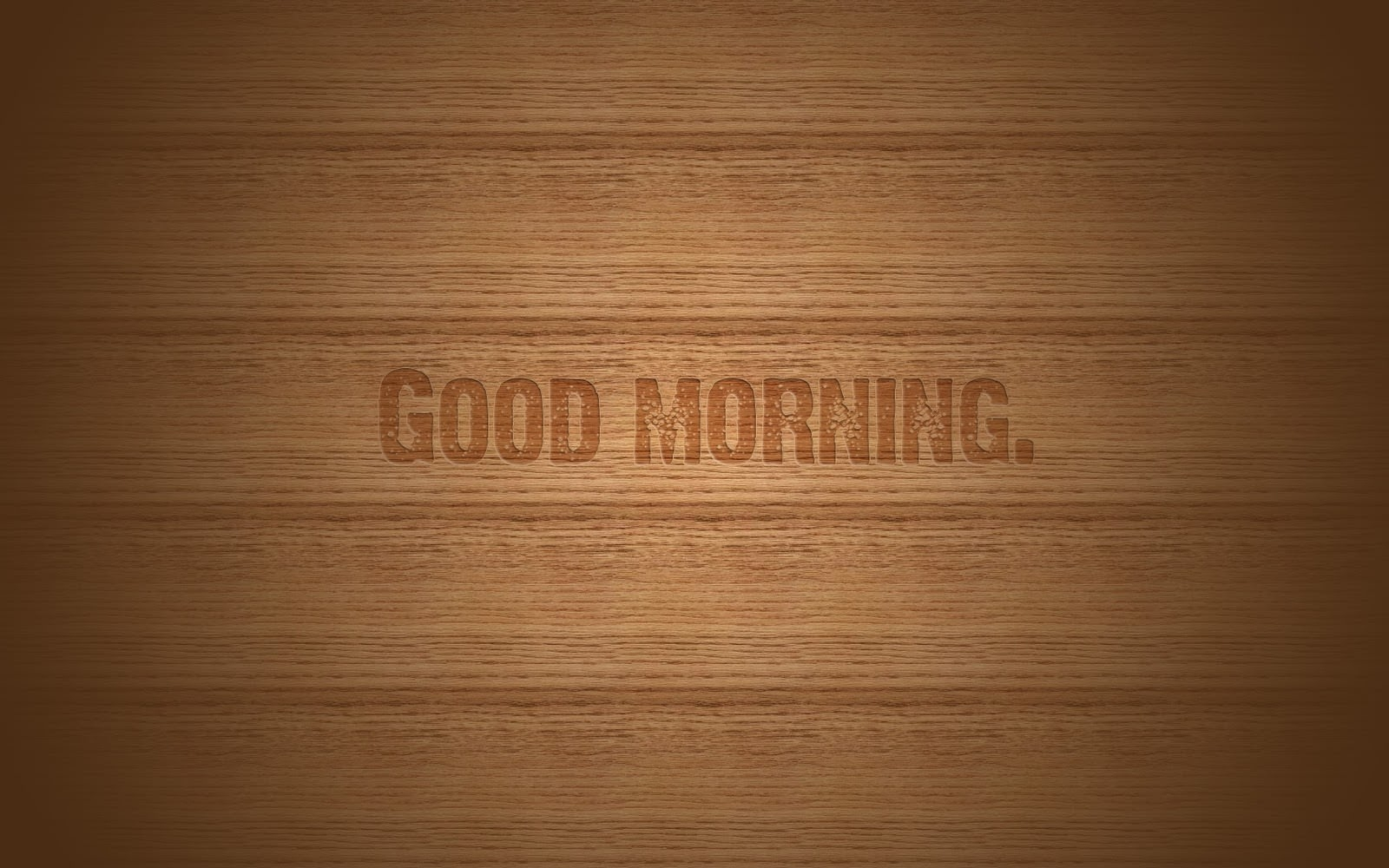 Good Morning on HD Wood Background