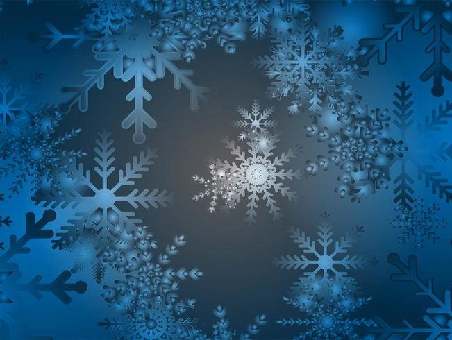 Gradient Navy Blue Snow Background