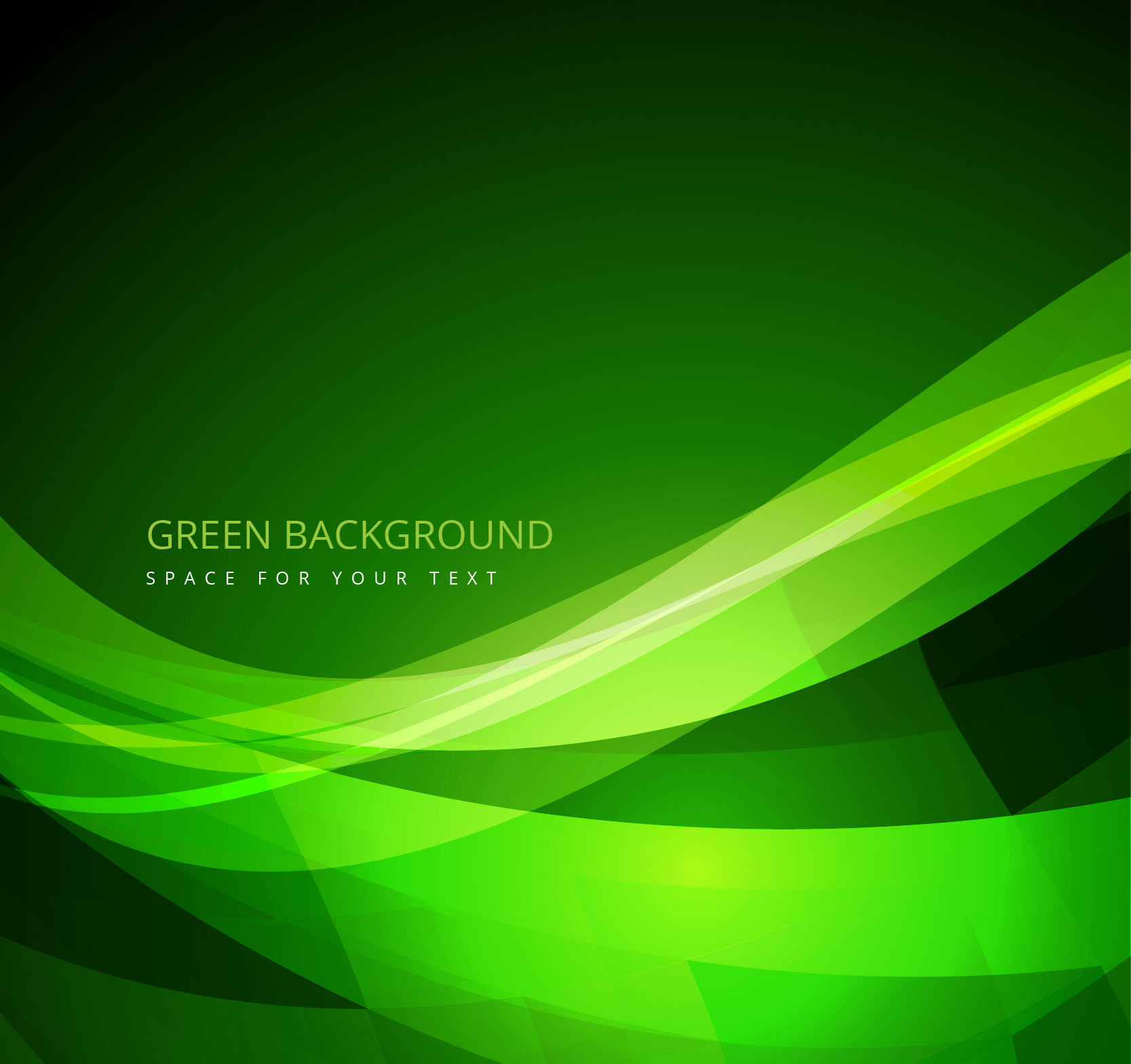 Green Background in Abstract Style