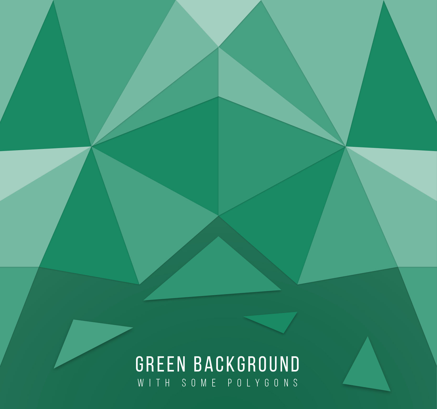 Green Background made of Polygons