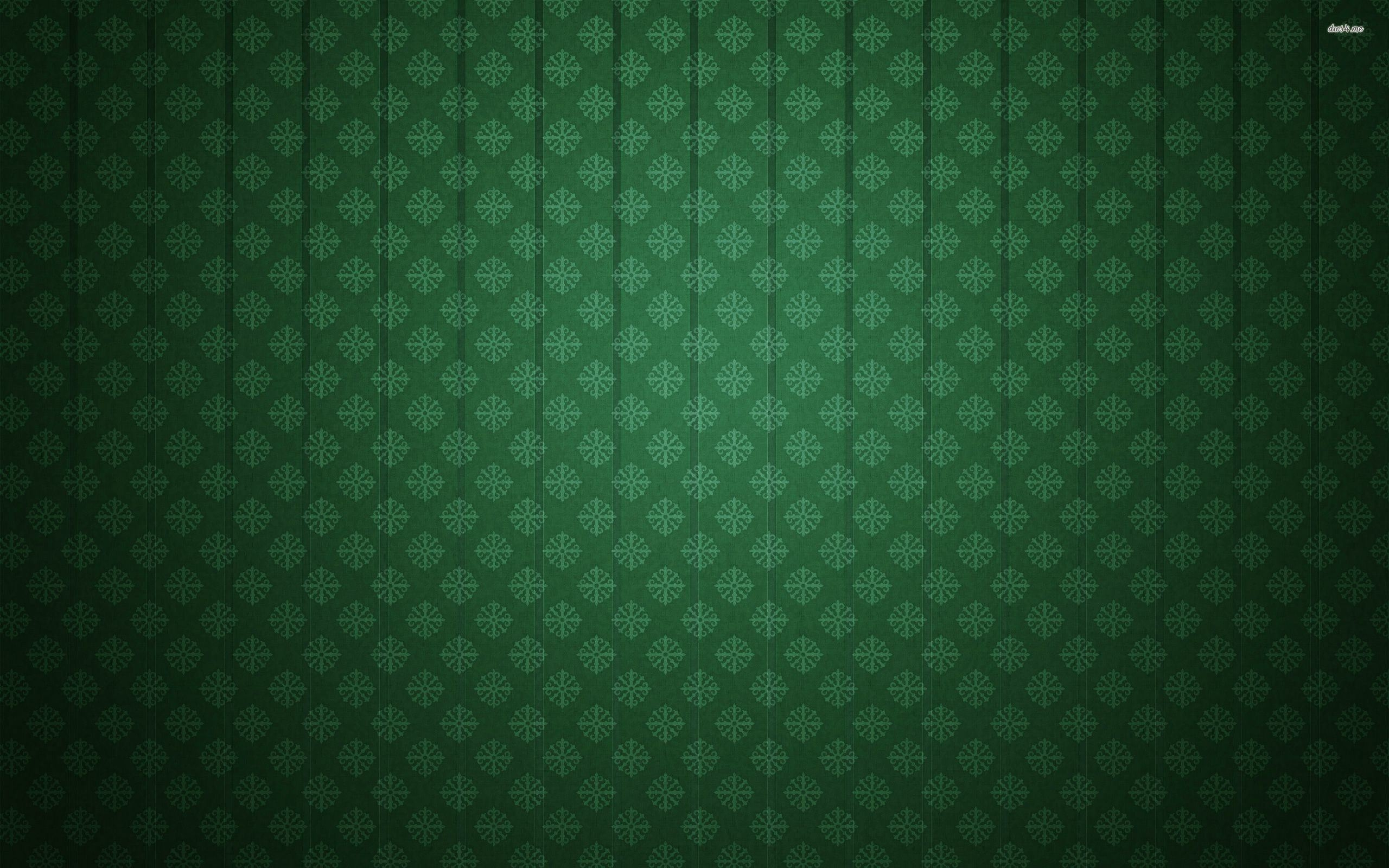 Green Floral High Res Wallpaper Pattern