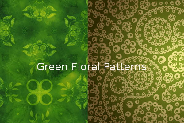 Green Floral Patterns for Free
