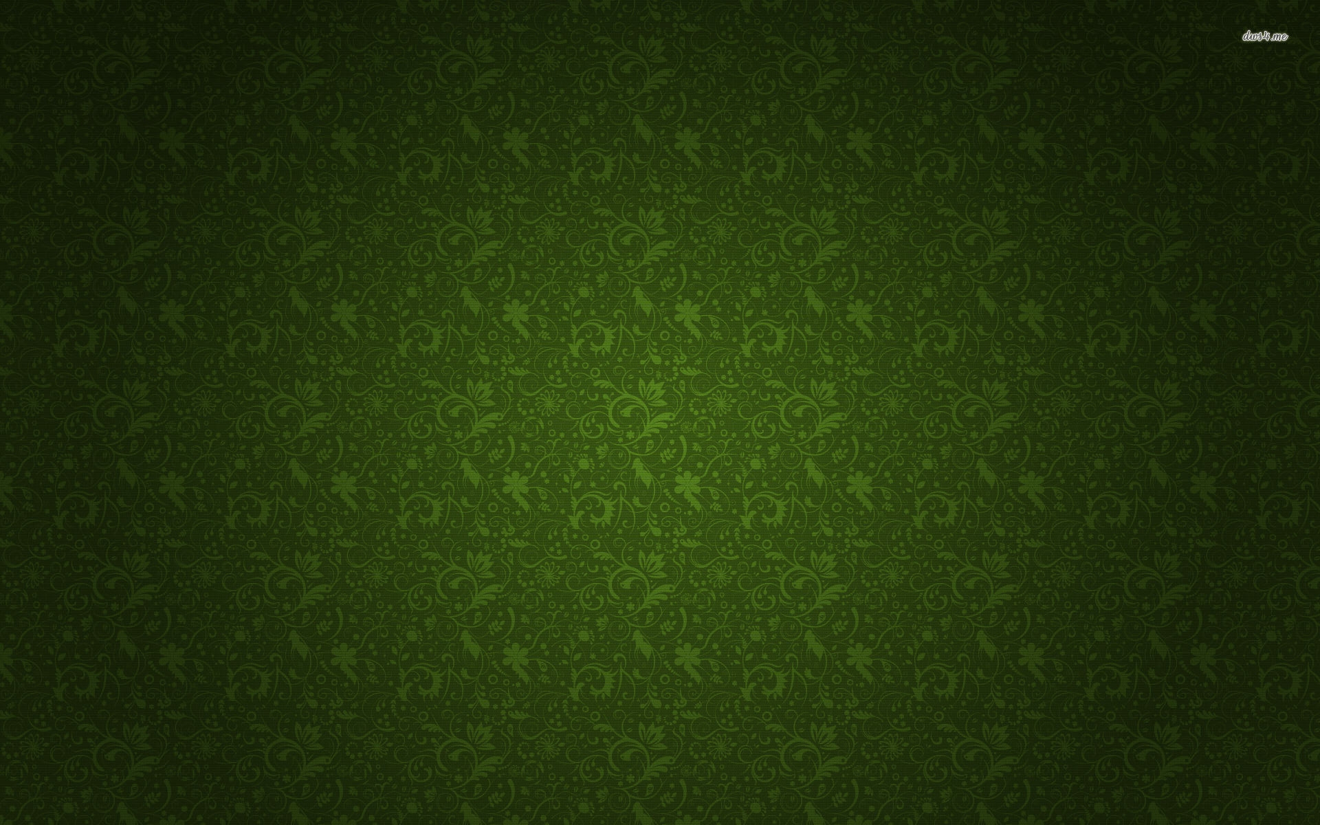 Green Floral Wallpaper Pattern