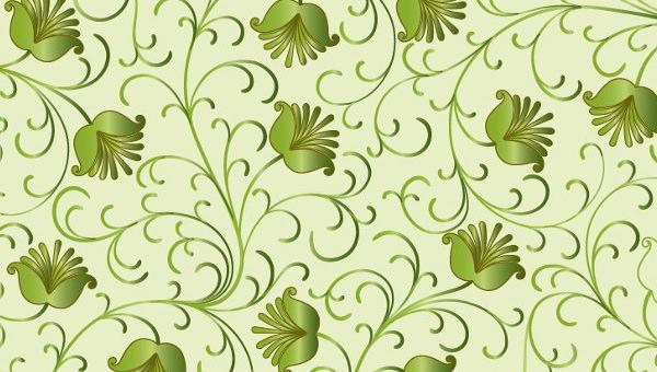 20 Green Floral Patterns Photoshop Patterns Freecreatives