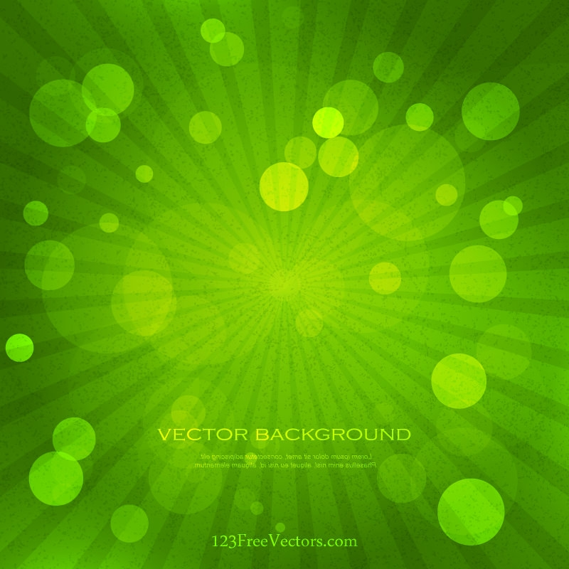 Green Grunge Sunburst Background