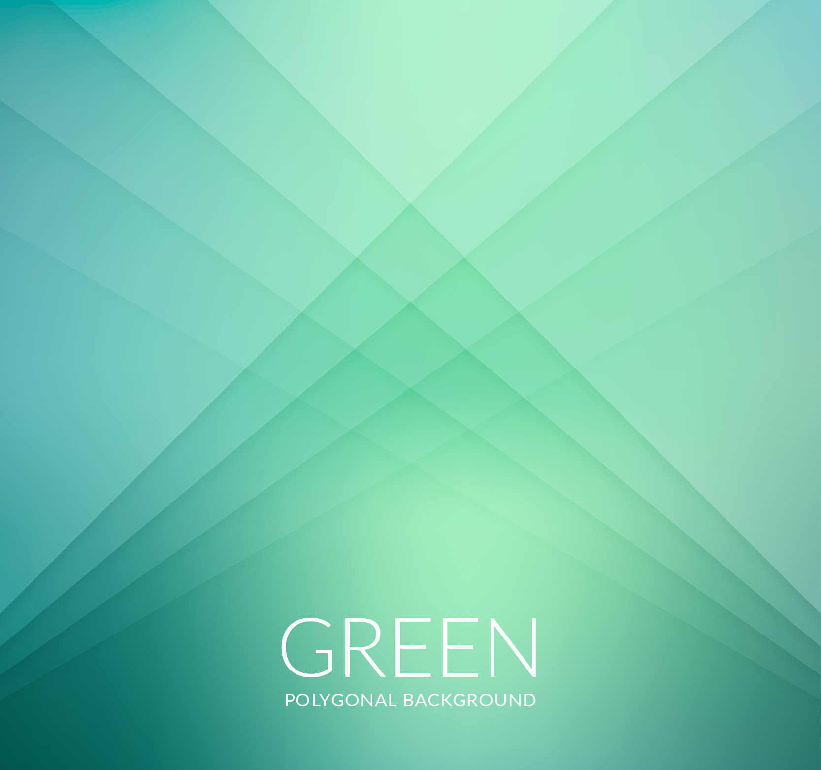 Green Polygonal Background for Free Download