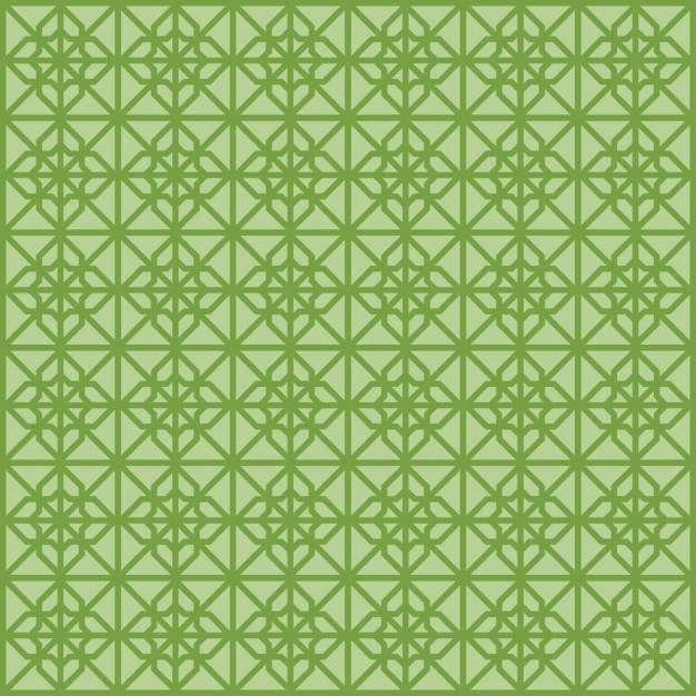 Green Seamless Islamic pattern Free Vector