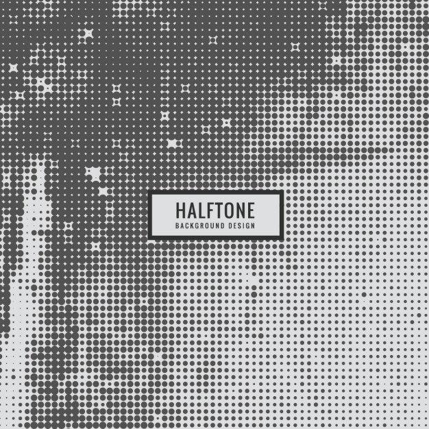 Grey Halftone Texture Free Vector
