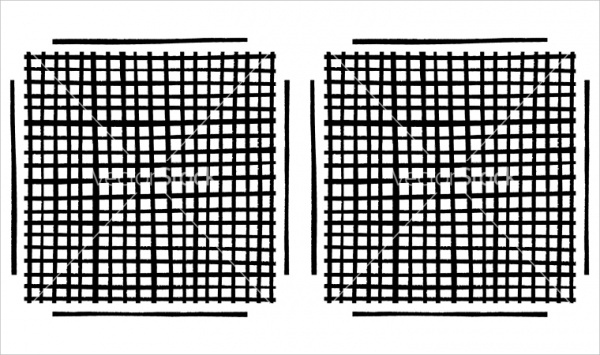 Grid Brushes Grunge Vector