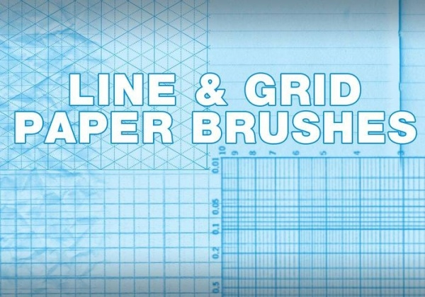 Grid Line Photoshop Brushes