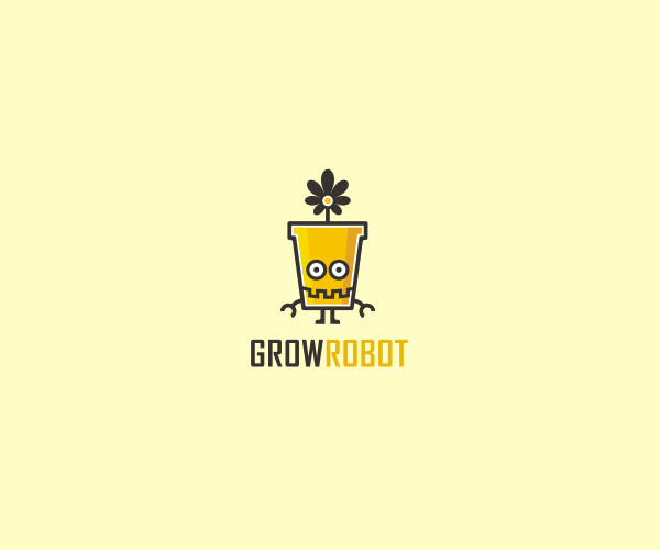 Grow Robot Logo For Free
