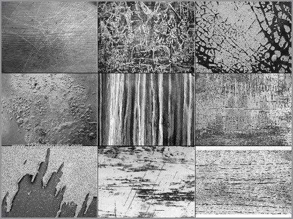 Grunge Wood Texture Photoshop Brushes