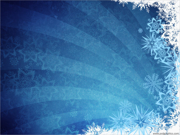 Grungy Blue Winter Textured Background