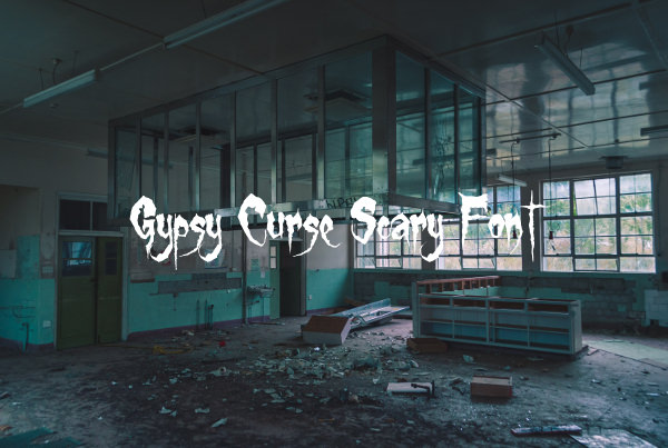 Gypsy Curse Scary Font