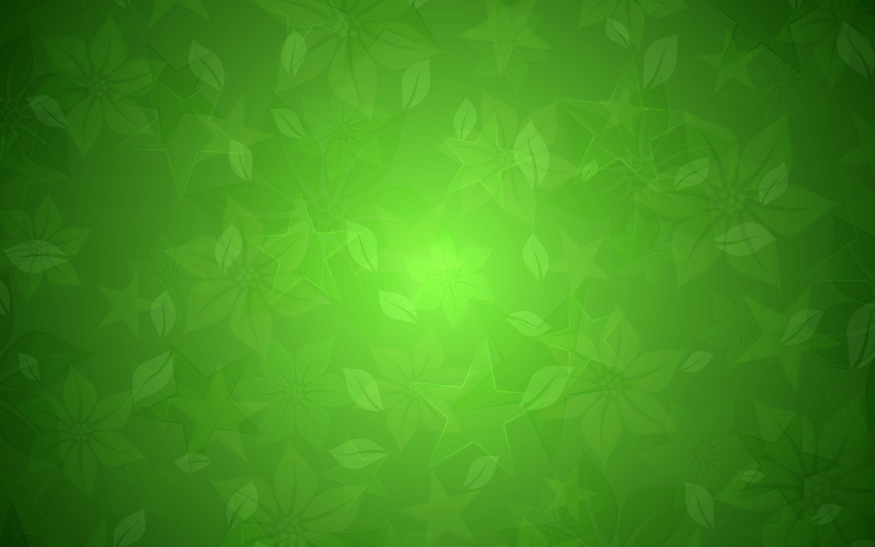 HD Green Floral Texture Wallpaper